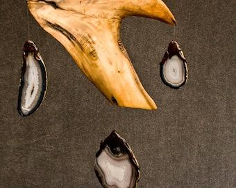 Kinetic Art Sculpture Douglas fir Wood Mobile Sun Catcher Oregon Woodinthewind Calder Driftwood