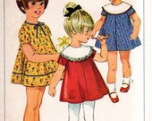 1960s Girls Dress Pattern - Vintage Simplicity 7328 - Multiple Sizes