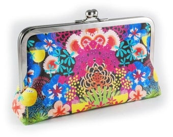 Colourful floral clutch