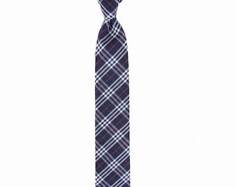 Nick - Navy/Red Plaid Men's Tie