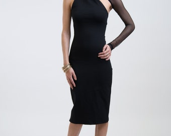 Evening Dress / Formal Dress / Party Dress / One Shoulder Pencil Dress / Prom Dress / Wedding Party Dress / marcellamoda - MD003