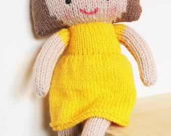 Saffron Doll Knitting Pattern Toy Rag Doll Pattern PDF