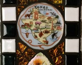 mosaic tile,recycled art,incense burner,yellow rose of Texas,nag champa incense included,one of a kind,art