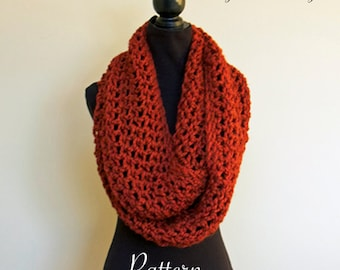 CROCHET PATTERN Super Long Infinity Scarf | Chunky Circle Scarf | PDF | Beginner Crochet Pattern | Made in Canada