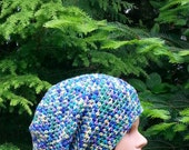 clearance- womens crochet, slouchie beanie, girls slouch hat, slouch hats for women, purple hat, blue, green yellow, youth hats, adult 9284