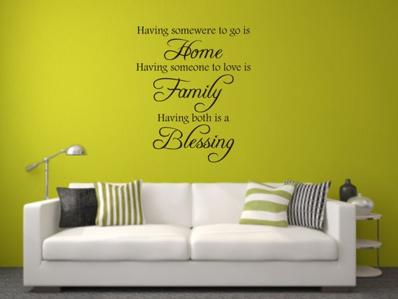 Vinyl Wall Decal Having somewhere to go is home by ...