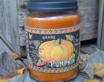 26oz Apothecary Jar Candle - Soy - Handmade - Highly Scented - Pumpkin Patch Scent - Only 23.99