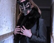 Wolf masquerade mask, animal mask, masquerade ball mask, halloween mask, costume accessories, mens mask, handmade mask, mardi gras mask