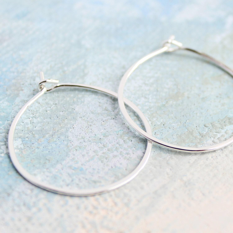 silver hoop earrings small sterling silver hoops 1. Black Bedroom Furniture Sets. Home Design Ideas