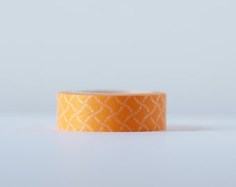 Woven Orange Washi Tape-  Single Roll 15 mm x 10 m