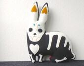 CONEJO - rabbit spirit animal - large soft sculpture OOAK