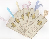 Winnie The Pooh Bookmark Baby Shower  Birthday Party Favor Bookmarks, Gender Neutral - Vintage Style Set of 10