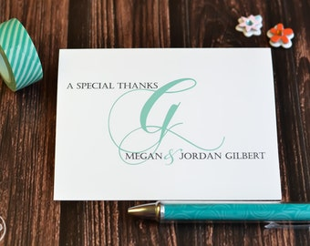 Personalized Wedding Thank You Notes / Wedding Cards / Thank You Notes / Fancy Initial Note Cards / Wedding Thank You Cards / Wedding Cards