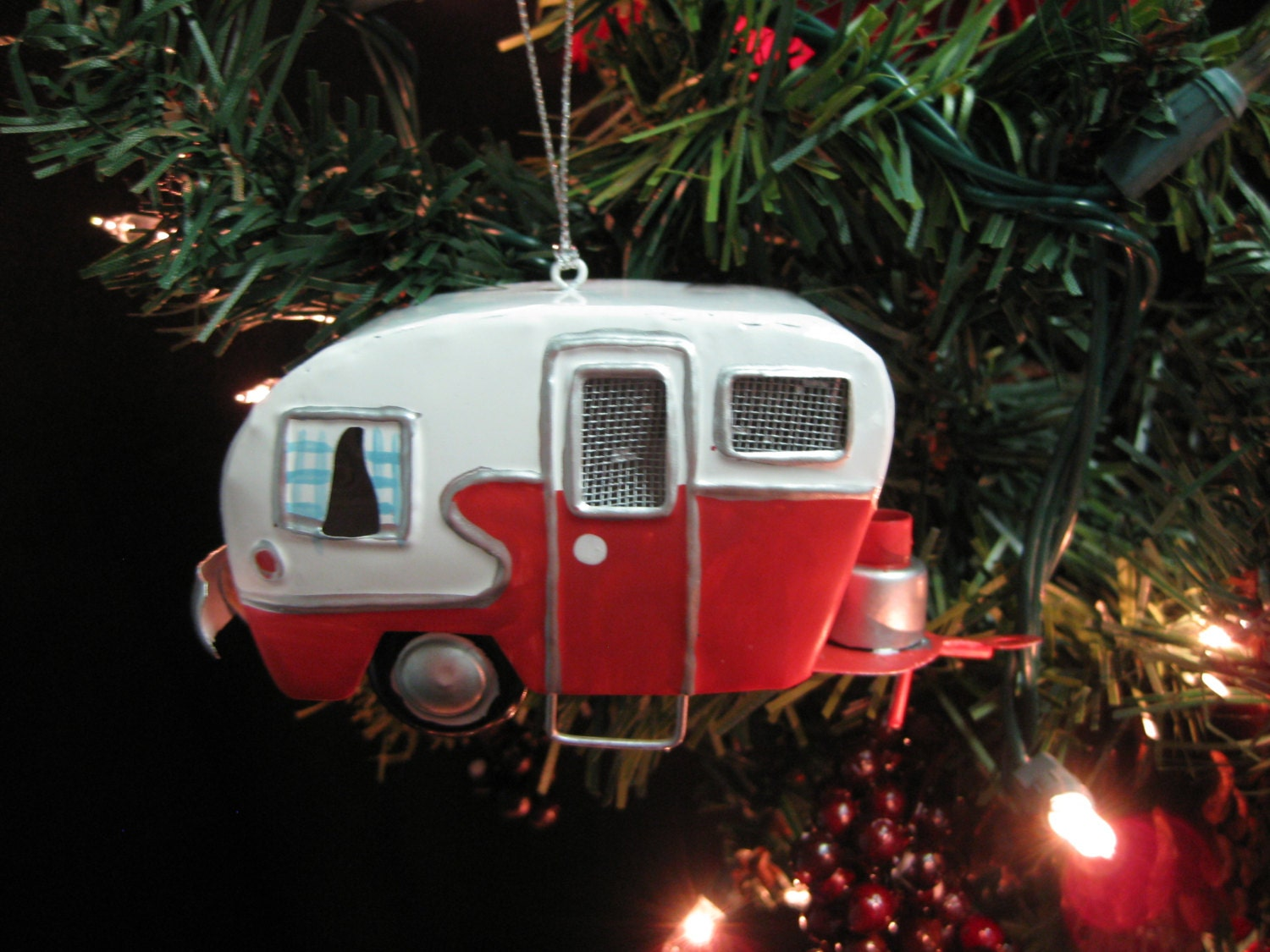 Metal Personalized Christmas Ornament Rv Camper Trailer