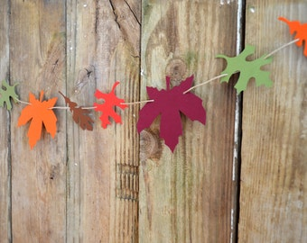Autumn Leaf Garland Kit - DIY reusable and customizable fall decor