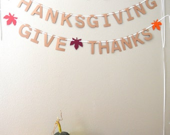 Gather, Thanksgiving or Give Thanks Banner - choose your word Thanksgiving banner