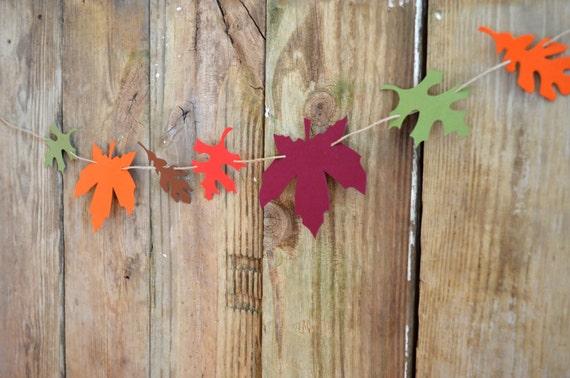 Autumn Leaf Garland Kit - DIY reusable and customizable fall decor