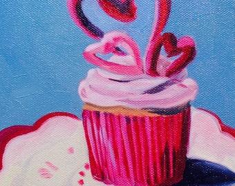 Cupcake Love Painting