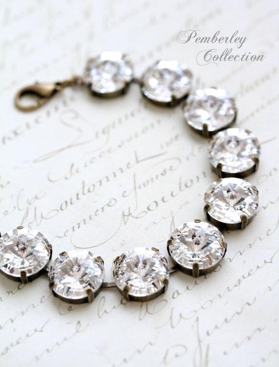 Swarovski Crystal Bracelet, Bridal Bracelet, Rivoli Crystal Bracelet, Bridesmaid Bracelet, Crystal Bracelet, Swarovski Bracelet