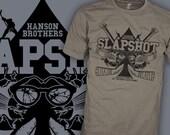 Slapshot Movie Shirt - Hanson Brothers Shirt - Canada Slap Shot Hockey T-Shirt - FREE SHIPPING