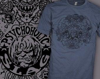 White Zombie T-Shirt - Psychoholic Slag - Rob Zombie Stoner Rock Shirt