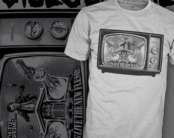 Videodrome Movie Shirt - James Woods Television - David Cronenberg Sci-Fi Horror Movie T-Shirt