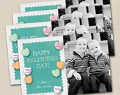 Sweet On You Valentine's Day Custom 4x6 Photo Card Printable Design