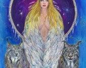 Freyja  - Norse Goddess of Love, Magic & Seidr -  A3 Print