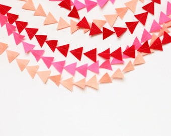 valentines day felt triangle garland- READY TO SHIP
