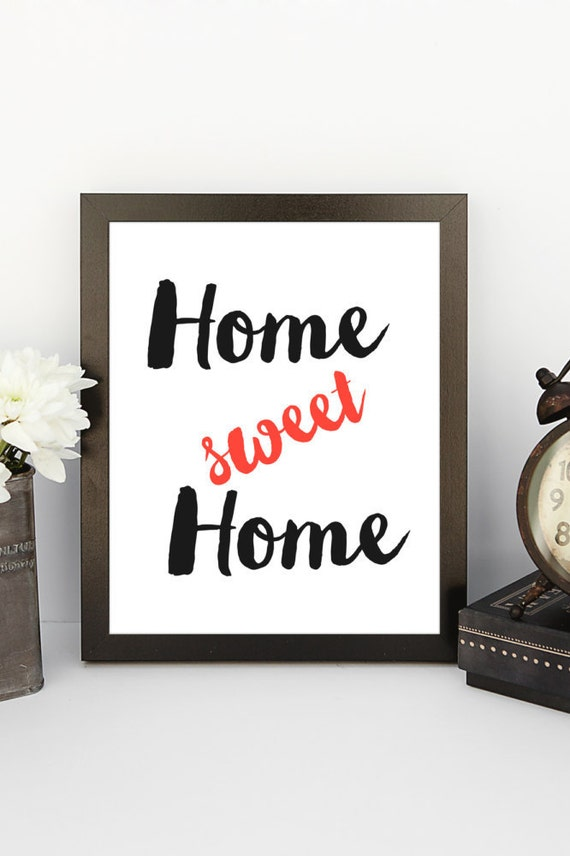 Home sweet home poster home decoration wall art by for Deco home sweet home
