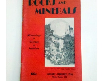1956 Rocks & Minerals Magazine, Vol. 31 No. 1-2, Official Journal of the RMA, Mineralogy, Geology, Lapidary, January-February