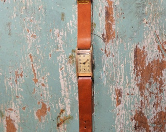 Gents 1930s German Laco gold coated wrist watch.