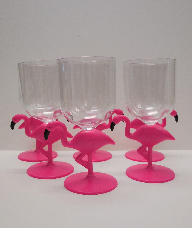 Reserved Set Of 6 Flamingo Glasses Margarita Plastic Pool Cups