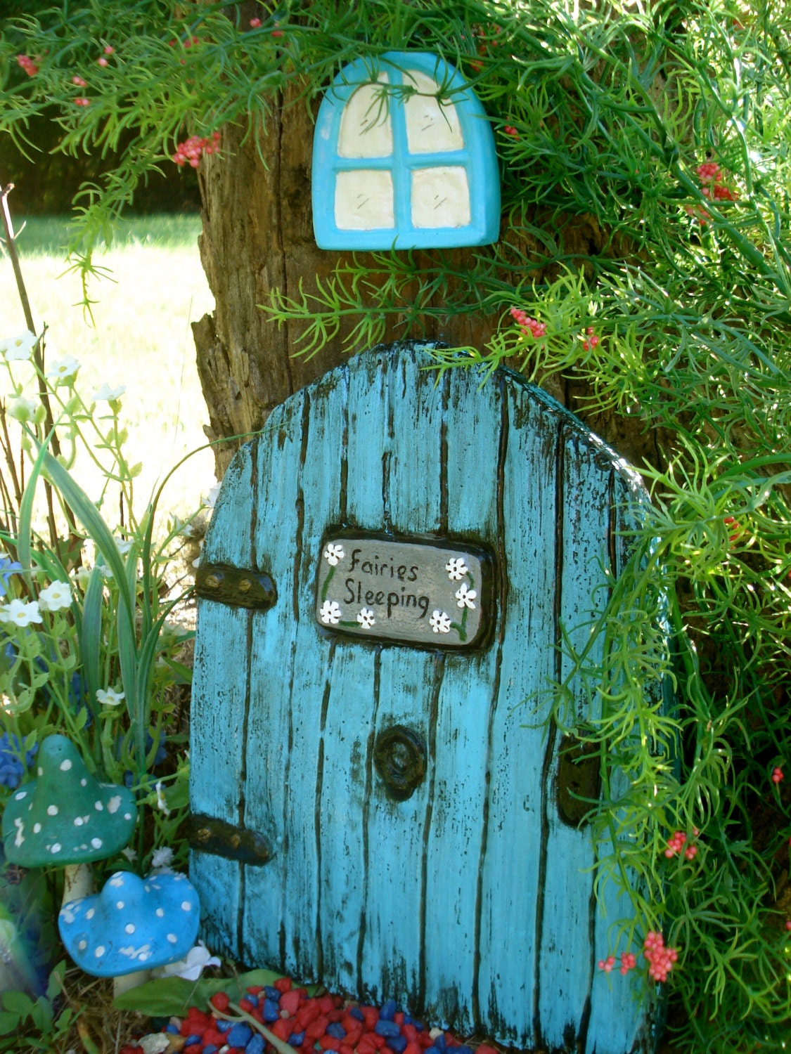 Large fairy door set fairy garden kit garden fairy doors for Garden door designs