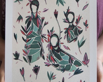 Garden Scene - A4 Fine Art Print
