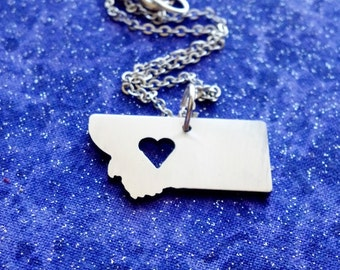 I Heart Montana - Necklace Pendant or Keychain
