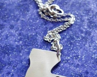 I Heart Louisiana - Necklace Pendant or Keychain