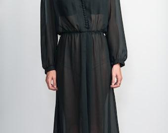 Black Sheer maxi dress