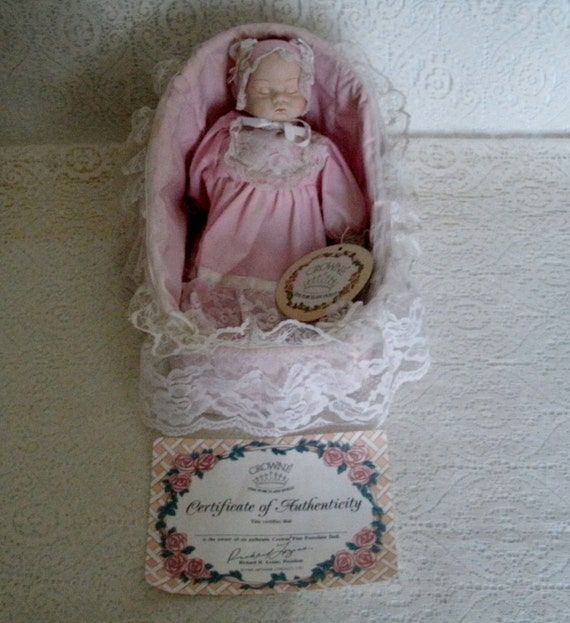 Items Similar To Crown Fine Porcelain Musical Doll