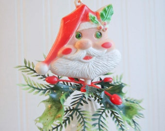 Vintage Santa Clause Christmas Chimes,Kitsch Christmas, Christmas Decoration, 1960s Christmas, Xmas Chime, Christmas Bell, Retro Christmas