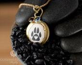 Paw Print Locket - pet memorial - Perfect for - dog lovers - cat lovers