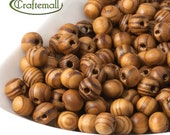 Wooden Beads - 8mm Round - 20g (about 138 Beads) TB616Y