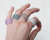 Bridesmaid gift. Crochet ring. Gifts for Bachelorette Party. Choose your color.  Lightweight and adaptable to the finger.