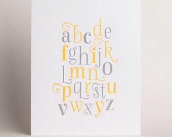Letterpress Alphabet Art Print 03