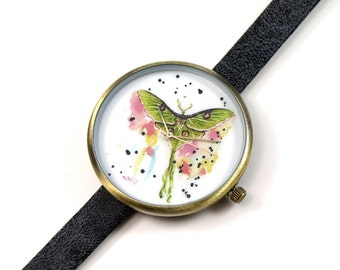 Limited Edition Art Watch - Luna Moth Art Watch