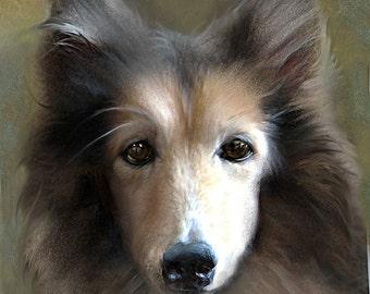 Dog Portrait//Pet Portrait//Custom Pet Portrait//10 x 10//Painted Pet Portraits//Dog Portrait Custom//Hand Painted Portrait