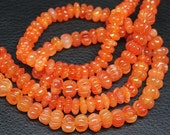 Natural Carnelian Carving Pumpkin Fancy Beads, 14 inches, 8-17mm, SKU952R