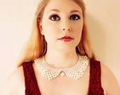 Pearl Collar Necklace - Ivory - Collar Necklace - Vintage Inspired Jewelry