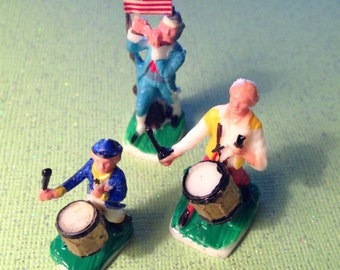 Yankee Doodle Spirit of 76 Miniature Plastic Figures Set of Three