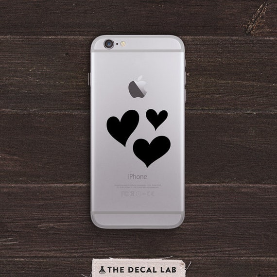 Hearts and Love Vinyl iPhone Decal BAS-0159